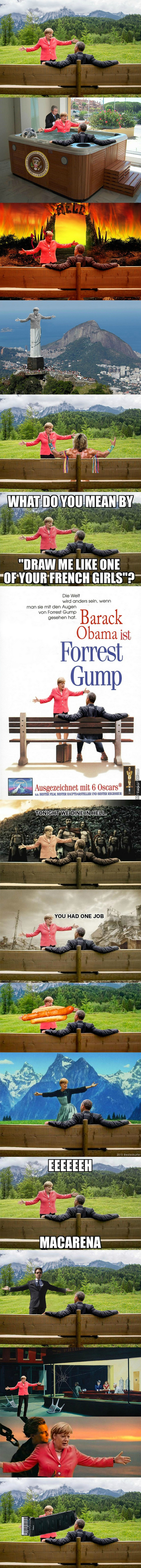 Merkel & Obama (Not My Original Work)