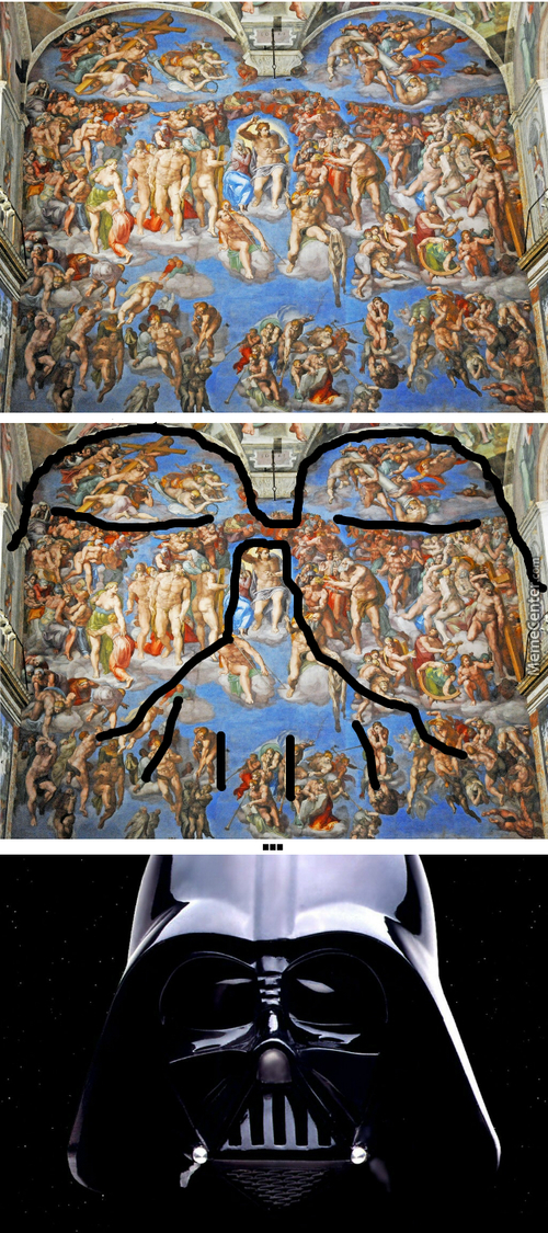 Michelangelo Predicted Darth Vader!
