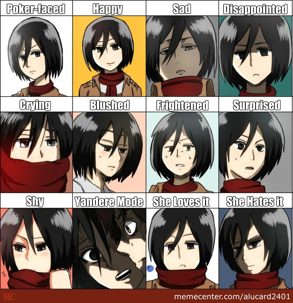 Mikasa Ackerman Expressions - Attack On Titan