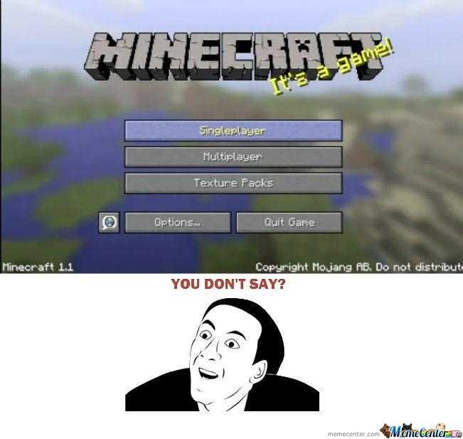 Minecraft,sometimes Obvious