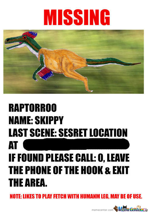 Missing Raptorroo