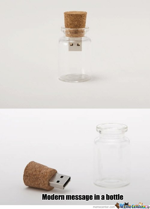 Modern message in a bottle