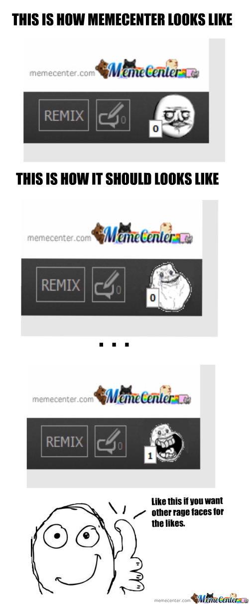 More Rage Comic Faces For The Likes Please !
