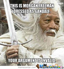 Morgan Freeman Dressed As Gandalf