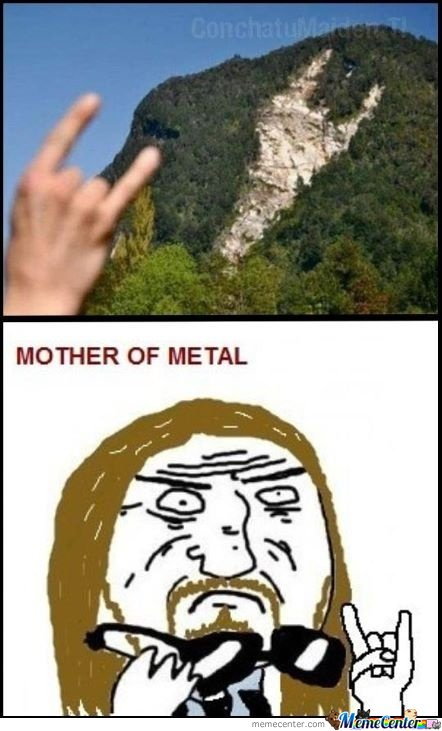 Mother of metal sign!