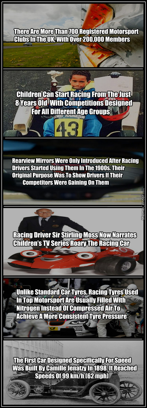 Motorsport  Random Facts