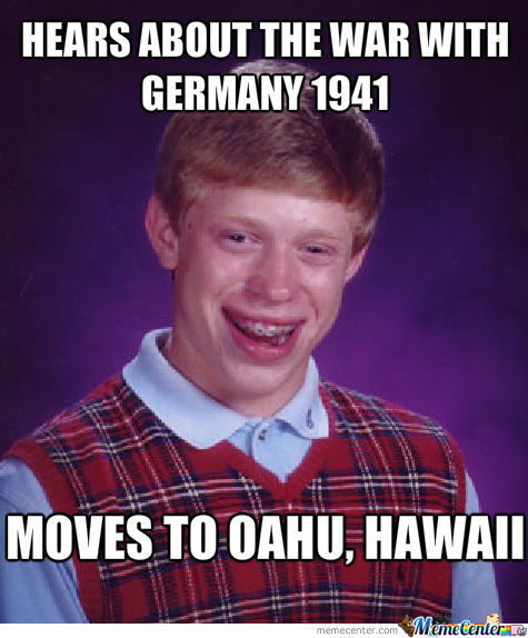Moves To Hawaii To Avoid War. Works At Pearl Harbour...
