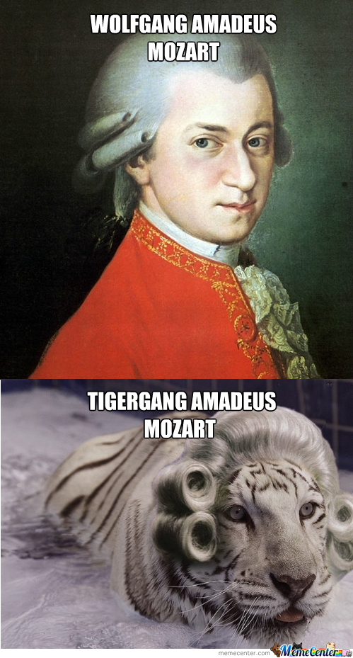Mozart And His Pet Tiger