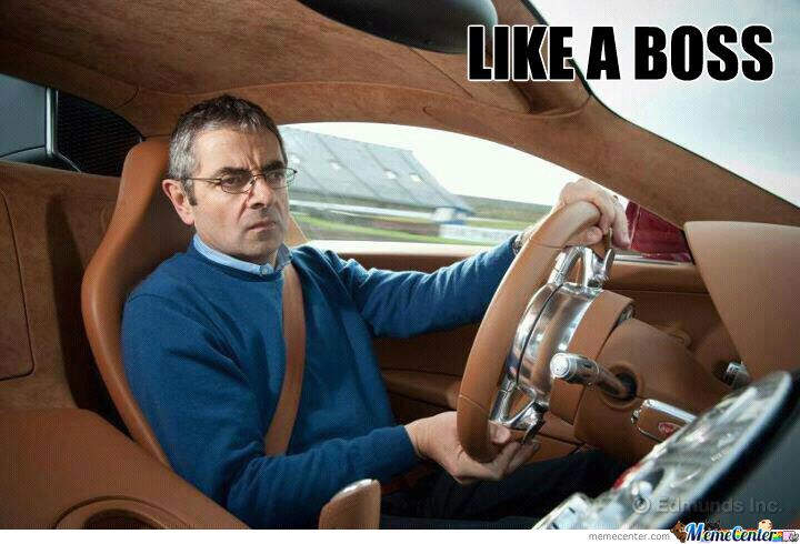 Mr Bean In His Supercar
