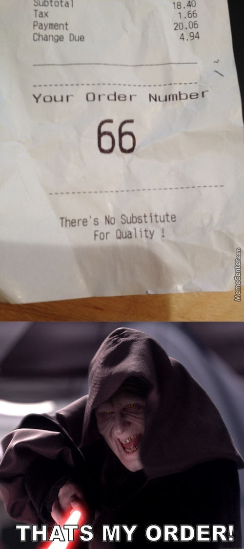 Must Have Ordered The Jedi Burger