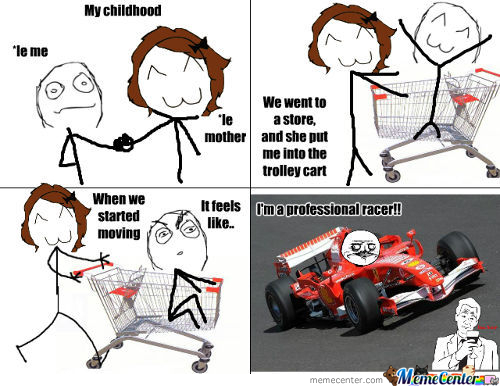 My Childhood As A Racer