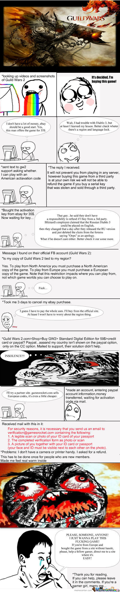 My Experience Trying To Buy Gw2, Help!