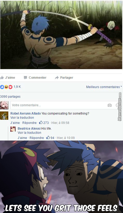 My Feel Are The Feel That Will ..not Do Anything ...i Can't Feel Anymore ..(Anime :gurren Lagann )