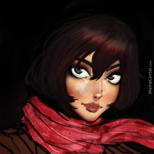 My First Digital Painting: Mikasa