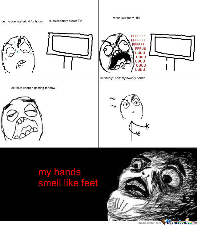 My First Rage Comic: Feet Hands