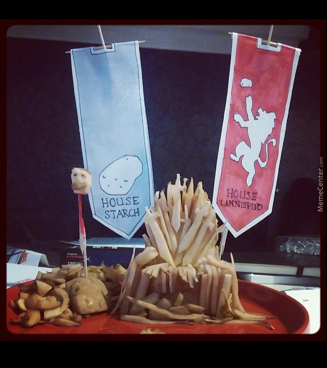 My Friend Made The Iron Throne Out Of A Potato..