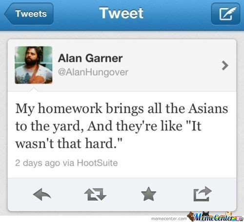 My Homework Brings All The Asians To The Yard...
