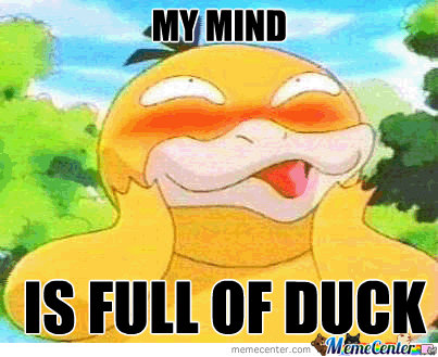 My Mind Is Full Of Duck