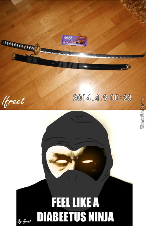 My Ninja Sword, Chocolate Milka For Scale