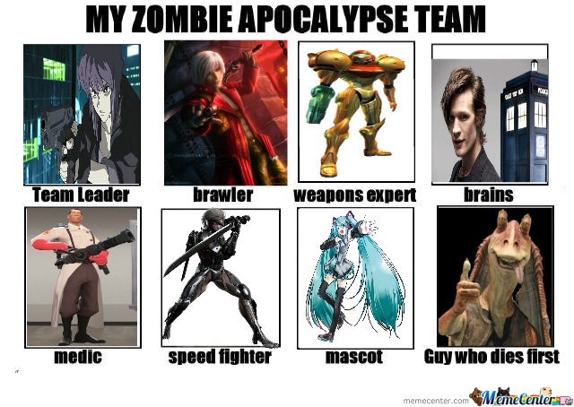 My Zombie Apocalypse Team Of Badass