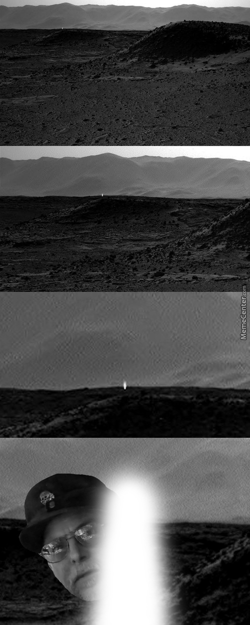 Mysterious Light On Mars? Nope. Chuck Testa