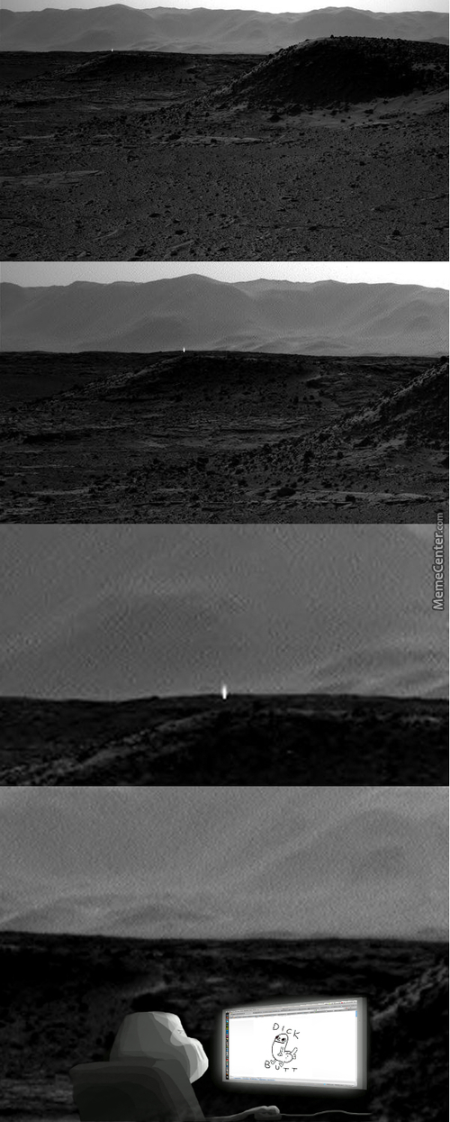 Mysterious Light On Mars