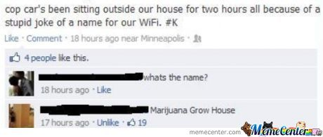 Name Your Wifi Properly...