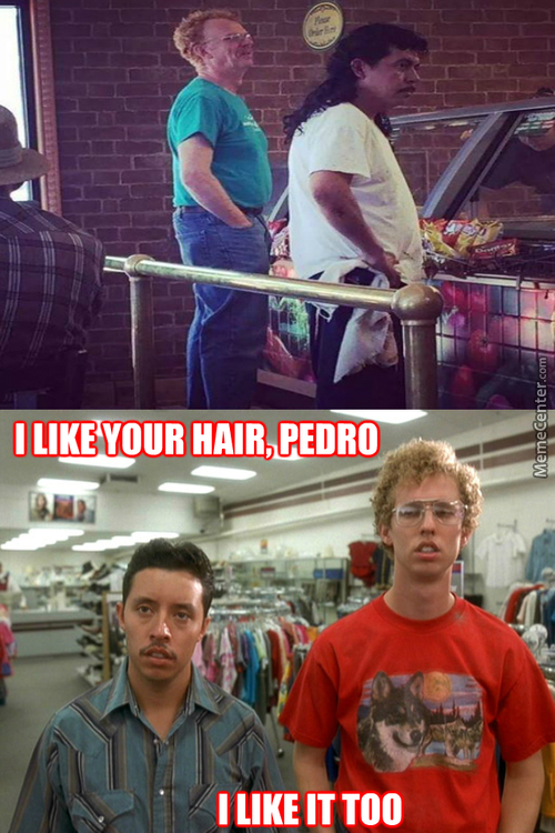 Napoleon And Pedro Looking At Themselves In The Future