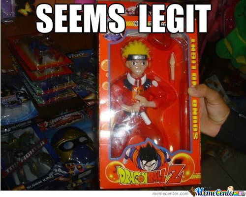 Naruto In Dragon Ball Box Wtf
