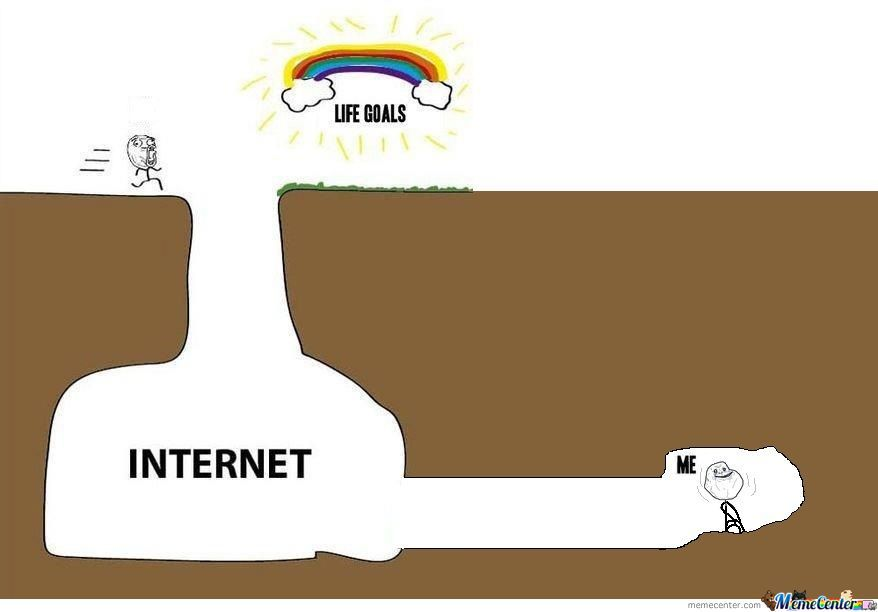 Life goals me and internet
