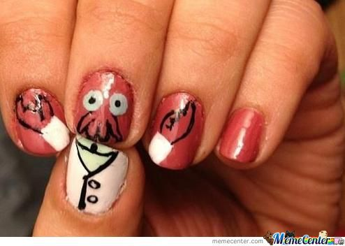 Need Some Nail Art? Why Not Zoidberg