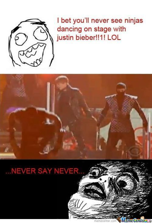 Never Say Never...