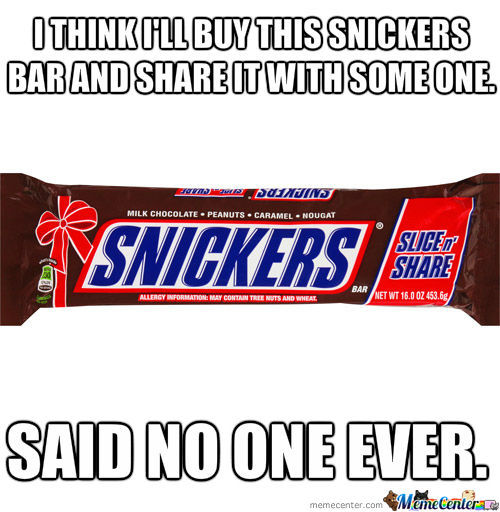 Never Share Candy.