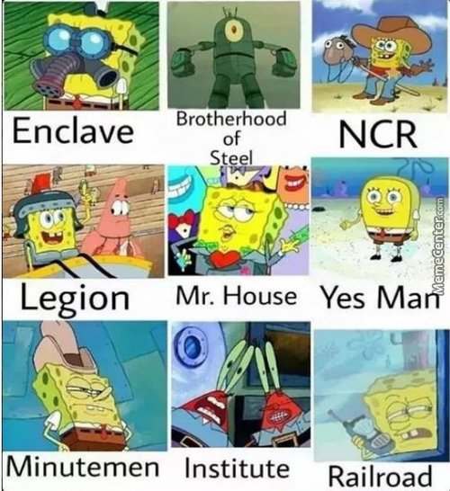 New Spongebob Meme N'stuff : Fallout Edition ...