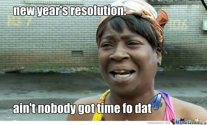 New Year Resolution???