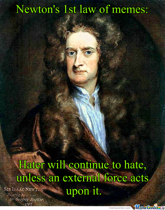 Newton's First Law Of Memes