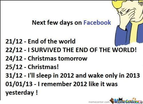 Next Few Days On Facebook.