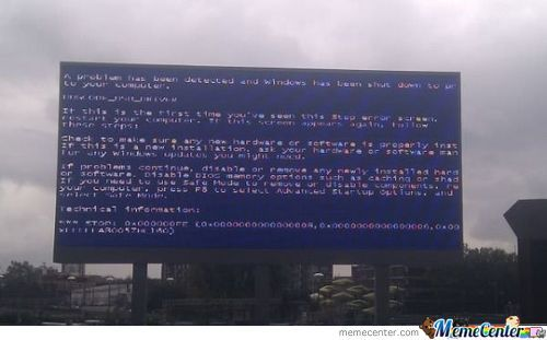 Nice Billboard,oh,,just Blue Screen