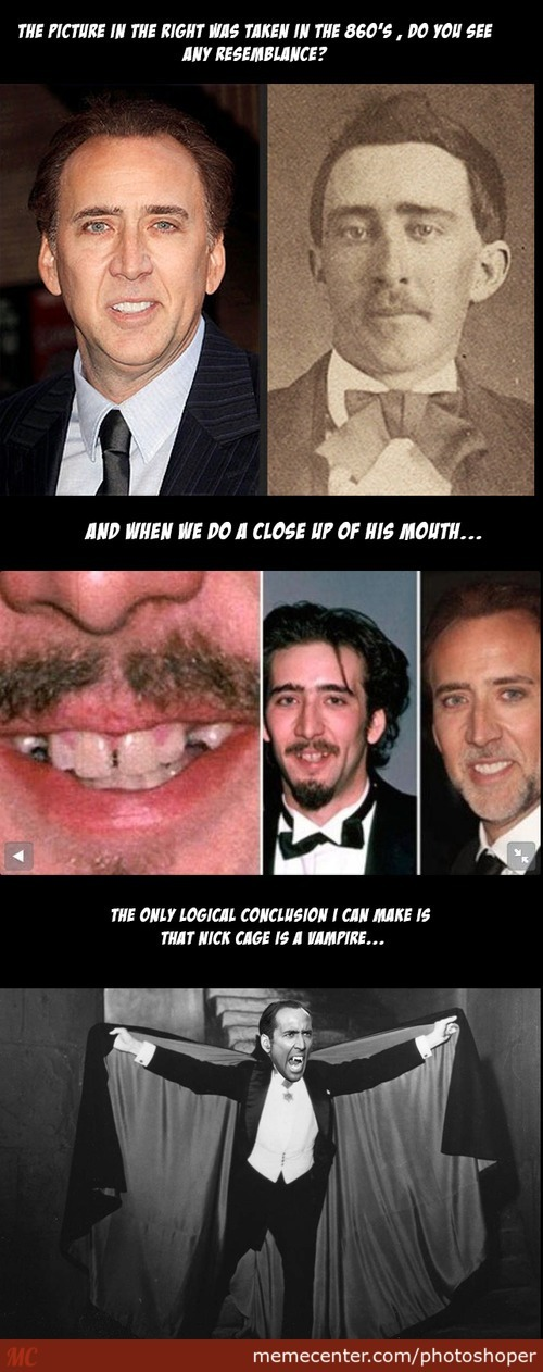Nick Cage: Vampire Confirmed!