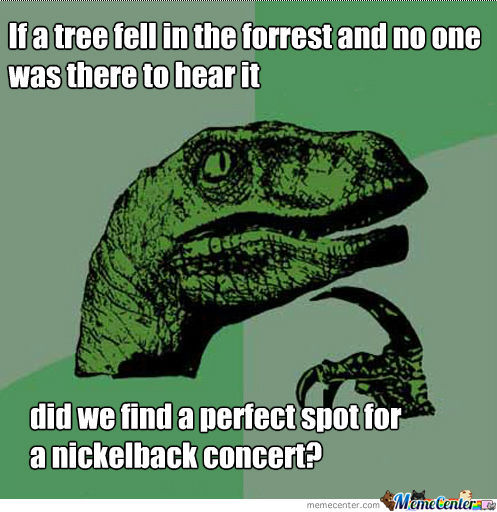 If a tree fell in the forrest and no one was there to hear it..