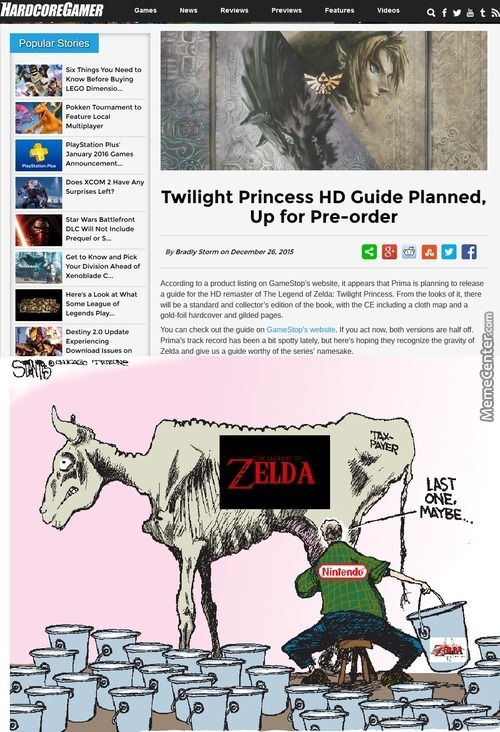 Nintendo Is Milking Zelda As Mush As It Can...(I Would Still Bought It Btw)