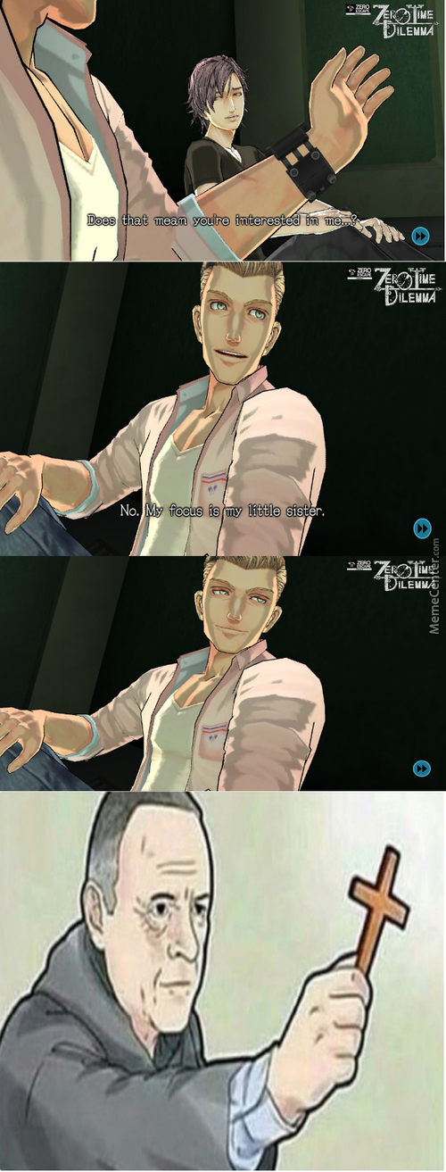 No Carlos Bad. Ah Screw It That Stuffs Hawt (Game: Zero Escape3: Zero Time Dilemma)