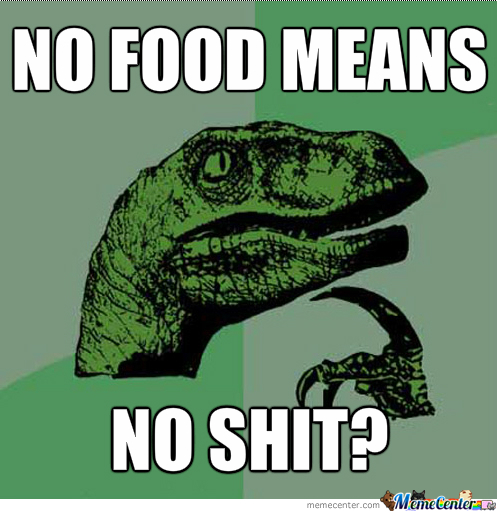 No Food = No Shit?