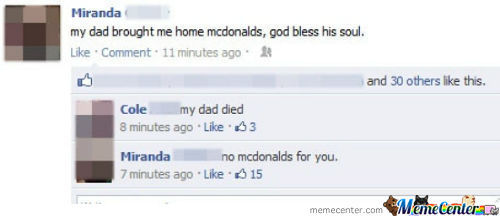 No Mcdonald's For You