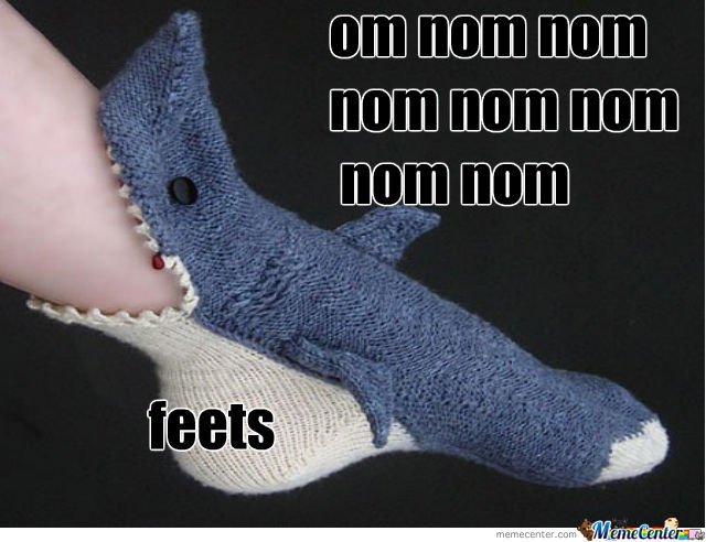 Nom Nom Nom   Feet Shark On His Way Of Feets