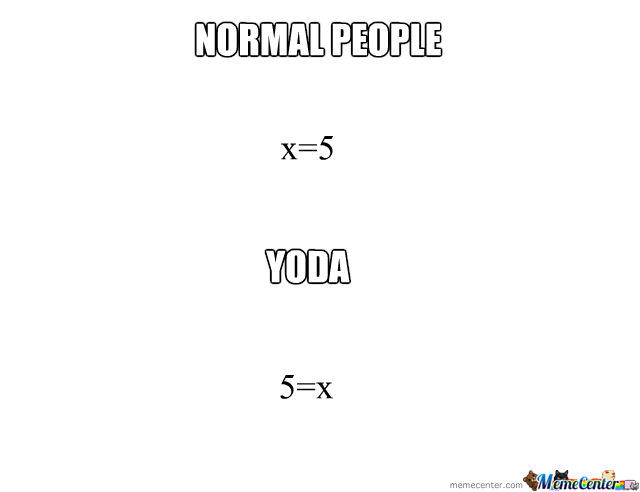 Normal People Vs Yoda