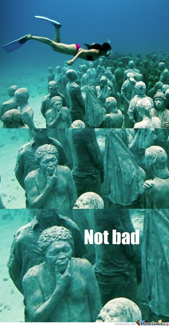 Not Bad Statue Underwater