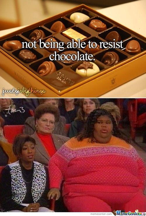 Not Being Able To Resist Chocolate