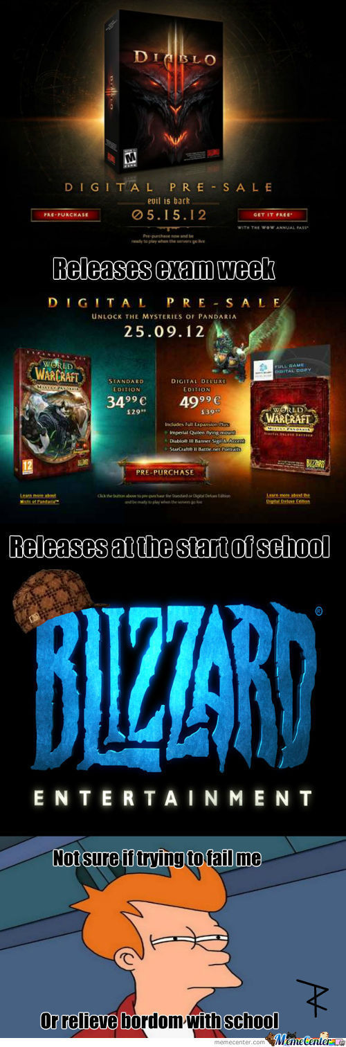 Not Sure If Scumbag Blizzard