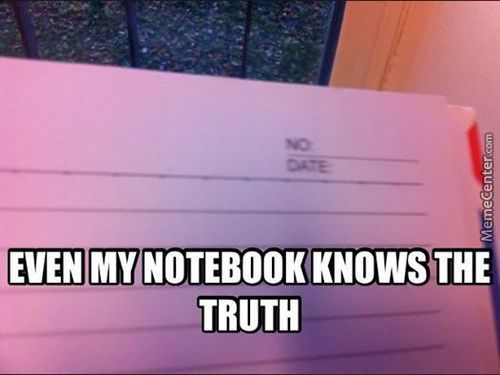 Notebook Stop Telling Me Evry Page